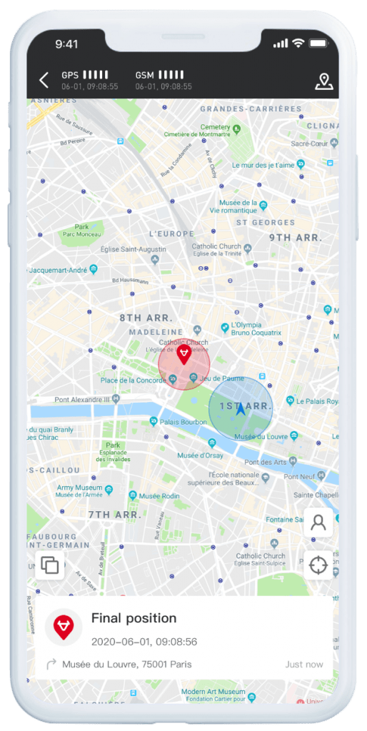 NIU electric moped map app