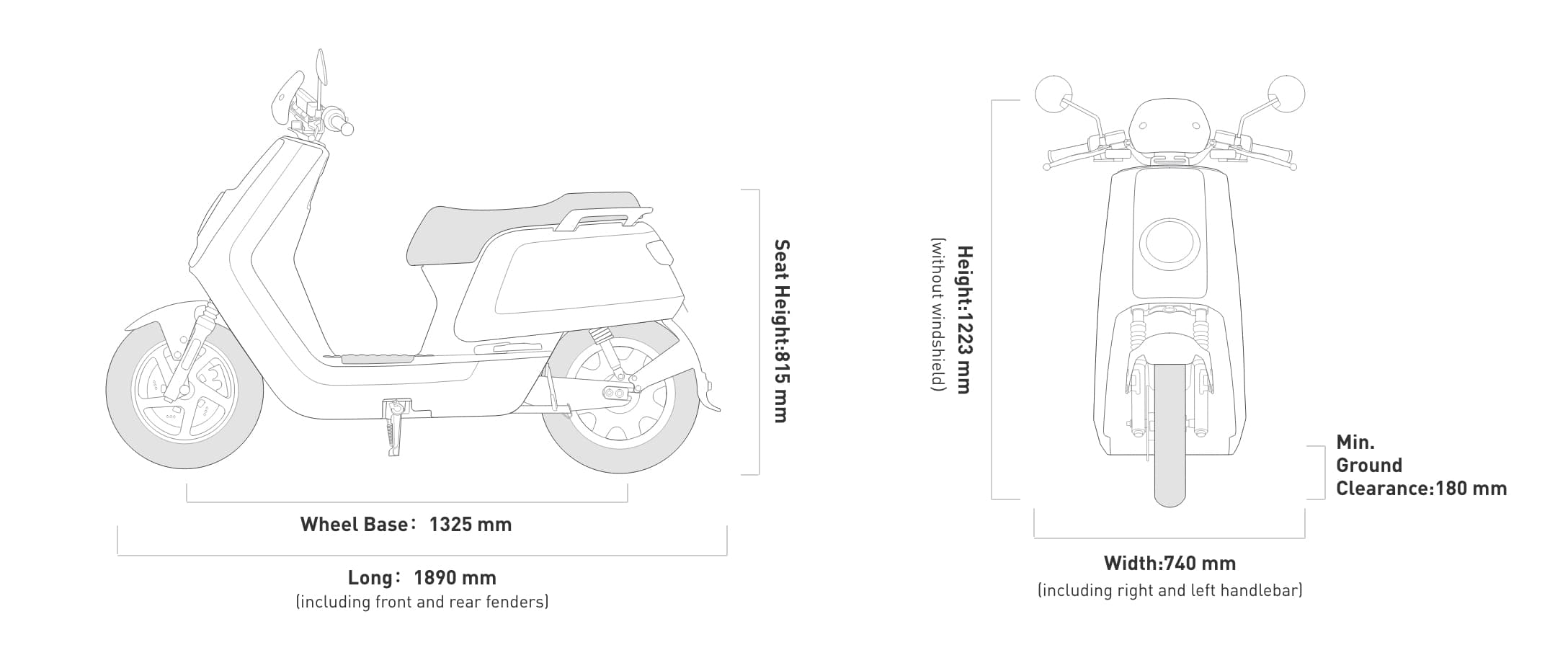 niu scooter technical specifications