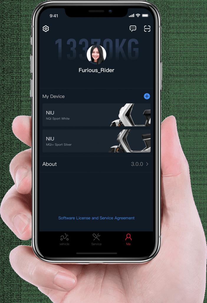 niu app smart scooter tech