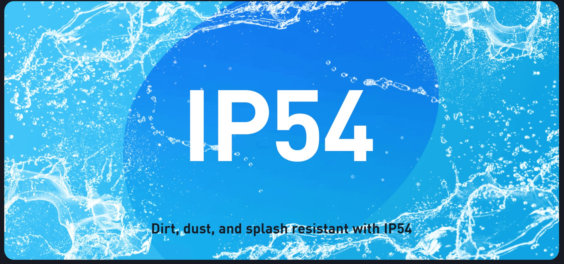 ip54 water and dust proof